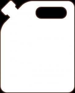 icono bidón por 10lt de aceite Campo Claro
