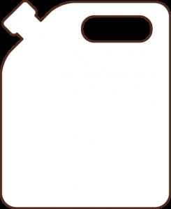 icono bidón por 5lt de aceite Campo Claro