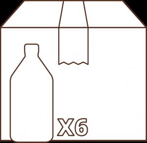 icono caja por 6 botellas 1 litro aceite Campo Claro