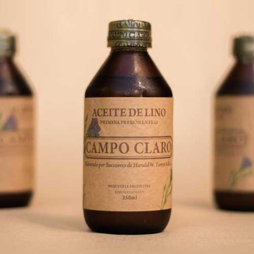 Aceite de Lino virgen de primera presión en frío Campo Claro