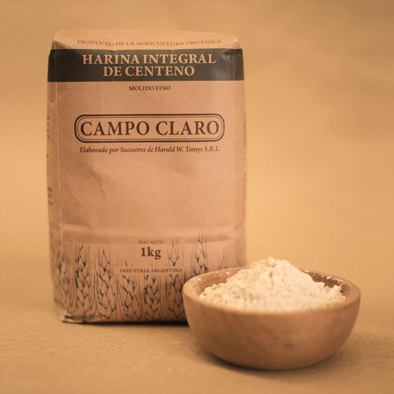 Harina integral de Centeno Campo Claro