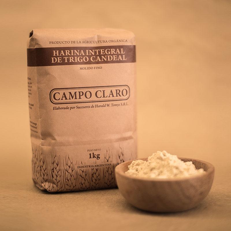 Harina integral de Trigo Candeal Campo Claro