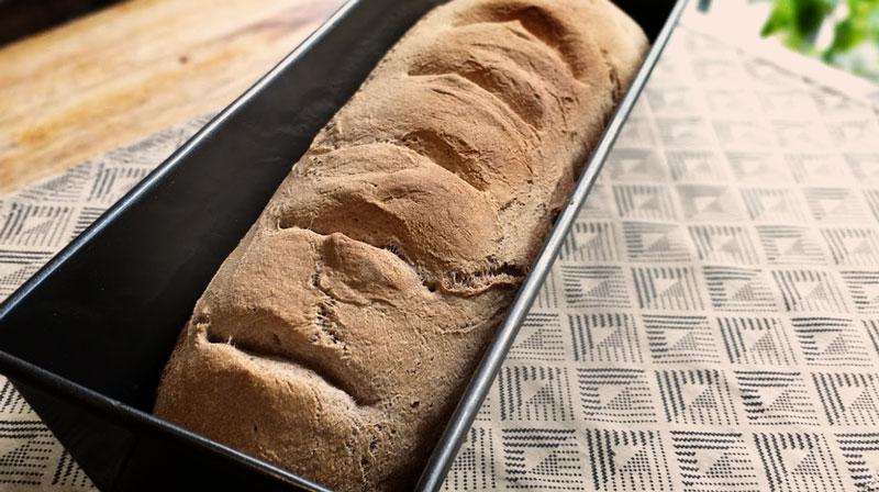 listo nuestro rico y saludable pan integral!